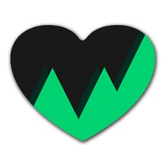 Soaring Mountains Nexus Black Green Heart Mousepads
