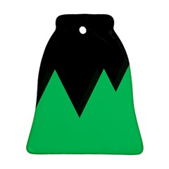 Soaring Mountains Nexus Black Green Bell Ornament (Two Sides)
