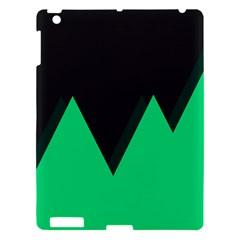Soaring Mountains Nexus Black Green Apple iPad 3/4 Hardshell Case
