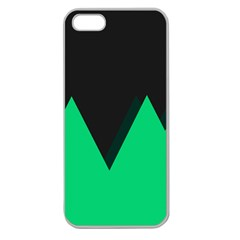Soaring Mountains Nexus Black Green Apple Seamless iPhone 5 Case (Clear)