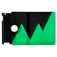 Soaring Mountains Nexus Black Green Apple iPad 2 Flip 360 Case