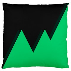 Soaring Mountains Nexus Black Green Large Flano Cushion Case (One Side)