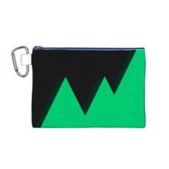 Soaring Mountains Nexus Black Green Canvas Cosmetic Bag (M)