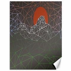 Sun Line Lighs Nets Green Orange Geometric Mountains Canvas 36  x 48