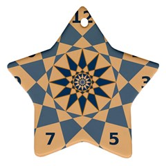 Stellated Regular Dodecagons Center Clock Face Number Star Ornament (Star)