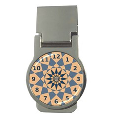 Stellated Regular Dodecagons Center Clock Face Number Star Money Clips (Round)