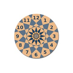 Stellated Regular Dodecagons Center Clock Face Number Star Magnet 3  (Round)
