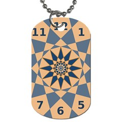 Stellated Regular Dodecagons Center Clock Face Number Star Dog Tag (One Side)