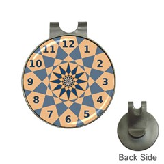 Stellated Regular Dodecagons Center Clock Face Number Star Hat Clips with Golf Markers