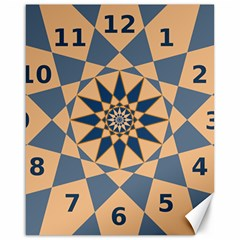 Stellated Regular Dodecagons Center Clock Face Number Star Canvas 16  x 20