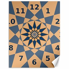 Stellated Regular Dodecagons Center Clock Face Number Star Canvas 18  x 24