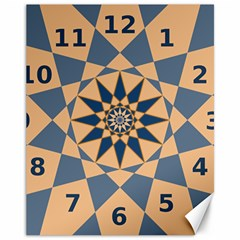 Stellated Regular Dodecagons Center Clock Face Number Star Canvas 11  x 14