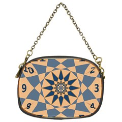 Stellated Regular Dodecagons Center Clock Face Number Star Chain Purses (one Side)
