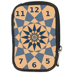 Stellated Regular Dodecagons Center Clock Face Number Star Compact Camera Cases