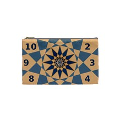 Stellated Regular Dodecagons Center Clock Face Number Star Cosmetic Bag (Small)