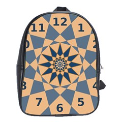 Stellated Regular Dodecagons Center Clock Face Number Star School Bags(Large)