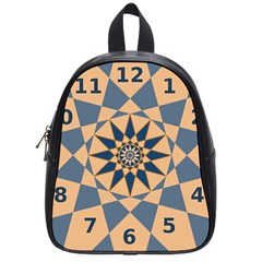 Stellated Regular Dodecagons Center Clock Face Number Star School Bags (Small)