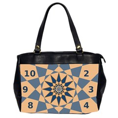 Stellated Regular Dodecagons Center Clock Face Number Star Office Handbags (2 Sides)