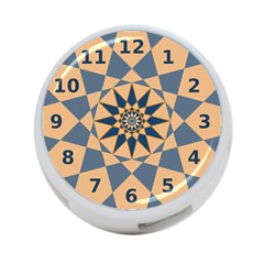 Stellated Regular Dodecagons Center Clock Face Number Star 4-Port USB Hub (Two Sides)