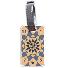 Stellated Regular Dodecagons Center Clock Face Number Star Luggage Tags (One Side)