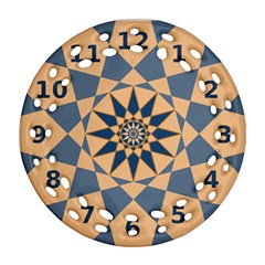 Stellated Regular Dodecagons Center Clock Face Number Star Ornament (Round Filigree)