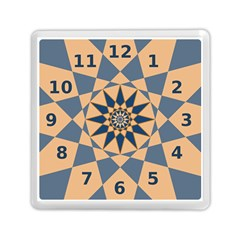 Stellated Regular Dodecagons Center Clock Face Number Star Memory Card Reader (Square)