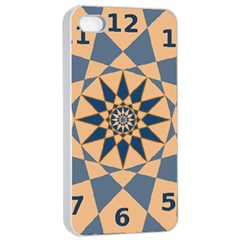 Stellated Regular Dodecagons Center Clock Face Number Star Apple iPhone 4/4s Seamless Case (White)