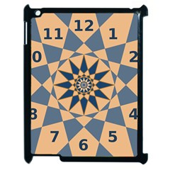 Stellated Regular Dodecagons Center Clock Face Number Star Apple Ipad 2 Case (black)
