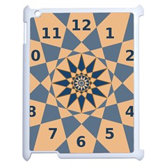 Stellated Regular Dodecagons Center Clock Face Number Star Apple iPad 2 Case (White)
