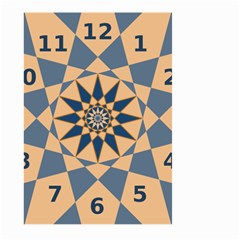 Stellated Regular Dodecagons Center Clock Face Number Star Large Garden Flag (Two Sides)