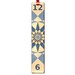 Stellated Regular Dodecagons Center Clock Face Number Star Large Book Marks