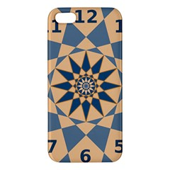 Stellated Regular Dodecagons Center Clock Face Number Star Apple iPhone 5 Premium Hardshell Case