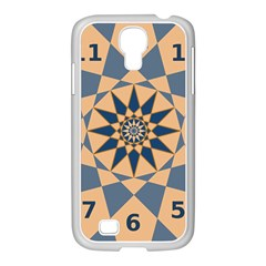 Stellated Regular Dodecagons Center Clock Face Number Star Samsung GALAXY S4 I9500/ I9505 Case (White)