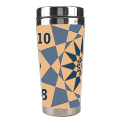 Stellated Regular Dodecagons Center Clock Face Number Star Stainless Steel Travel Tumblers