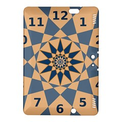 Stellated Regular Dodecagons Center Clock Face Number Star Kindle Fire HDX 8.9  Hardshell Case