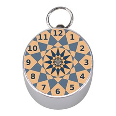 Stellated Regular Dodecagons Center Clock Face Number Star Mini Silver Compasses