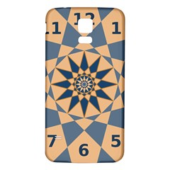 Stellated Regular Dodecagons Center Clock Face Number Star Samsung Galaxy S5 Back Case (White)