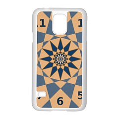Stellated Regular Dodecagons Center Clock Face Number Star Samsung Galaxy S5 Case (White)