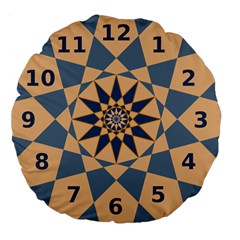Stellated Regular Dodecagons Center Clock Face Number Star Large 18  Premium Flano Round Cushions