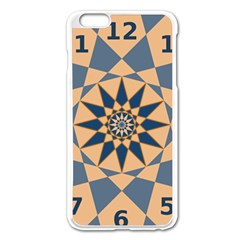 Stellated Regular Dodecagons Center Clock Face Number Star Apple iPhone 6 Plus/6S Plus Enamel White Case