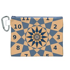 Stellated Regular Dodecagons Center Clock Face Number Star Canvas Cosmetic Bag (XL)