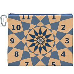 Stellated Regular Dodecagons Center Clock Face Number Star Canvas Cosmetic Bag (XXXL)
