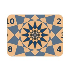 Stellated Regular Dodecagons Center Clock Face Number Star Double Sided Flano Blanket (Mini)