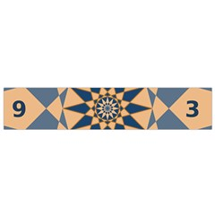 Stellated Regular Dodecagons Center Clock Face Number Star Flano Scarf (Small)