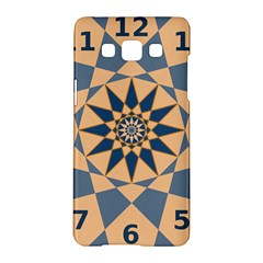 Stellated Regular Dodecagons Center Clock Face Number Star Samsung Galaxy A5 Hardshell Case