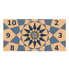Stellated Regular Dodecagons Center Clock Face Number Star Satin Shawl