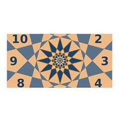 Stellated Regular Dodecagons Center Clock Face Number Star Satin Wrap
