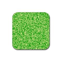 Specktre Triangle Green Rubber Coaster (Square)