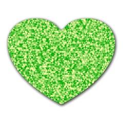 Specktre Triangle Green Heart Mousepads