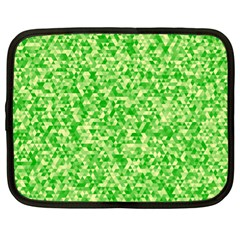 Specktre Triangle Green Netbook Case (XL)